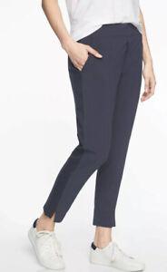 ATHLETA Brooklyn Ankle Lightweight Travel Pant Navy Women Size 00P NWT