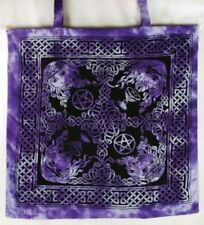 "Celtic King Tote Shoulder Bag Purple/Black 18""X18"" Pagan/Wiccar  Newage/Goth"