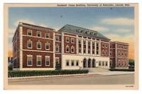 Vintage Postcard University of Nebraska Lincoln Nebraska Student Union J20