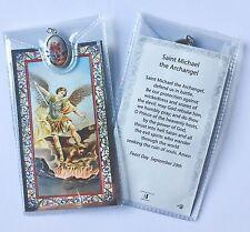 SAINT ST MICHAEL THE ARCHANGEL CATHOLIC PRAYER CARD & MEDAL