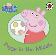 Peppa Pig Story Book - PIGGY IN THE MIDDLE - Board Book - NEW