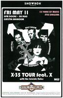 X Band 2012 Gig POSTER Portland Oregon Exene Cervenka John Doe Concert