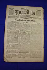 VORWÄRTS (19. April 1919): Frankreichs Absichten