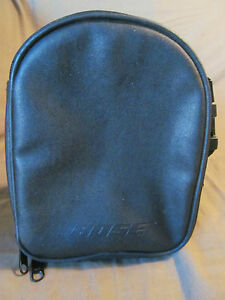 Genuine Bose Quiet Comfort QC1 Headphone Carrying Case Black Leather with Strap