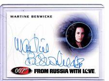 James Bond 50th Anniversary Martine Beswicke auto card