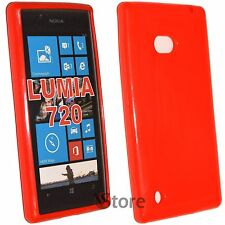 Cover For Nokia Lumia 720 silicone Gel TPU Red silicone
