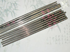 5 pairs of Stainless Steel Metal Chopsticks with Butterfly Flower Pattern - PINK