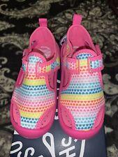 NIB OshKosh B'gosh Toddler Girls Washable Water/Pool Rainbow Sandal Shoes (8T)
