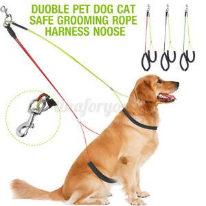 Adjustable Dog Pet Grooming Bath Restraint Rope Harness Strap Cat Noose Loop