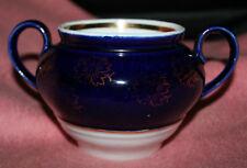 Kobalt blau/gold Porzellan * Zuckerdose ohne Deckel * Dose