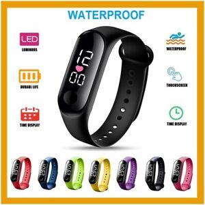 Orologio Digitale Sport Touch Impermeabile Silicone Uomo Donna Unisex Watch
