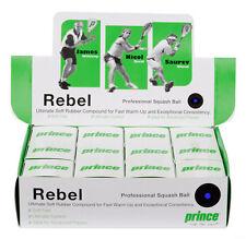 Prince Rebel Blue Dot Squash Balles Pack 12