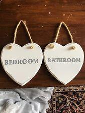 Bedroom And Bathroom Plaque/ Door Sign On Rope
