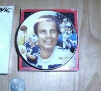 "1987 Roger Staubach Gartlan Mini Plate 3"" NFL cowboys"