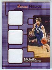 PAU GASOL 2007-08 Bowman Draft & Stars Triple Jersey Relic 35/50