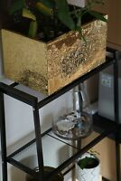 Vintage Brass Embossed Fireside Log/Coal Box and Bin Made by English Craftsman