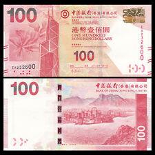 HongKong Hong Kong 100 Dollars, BOC, 2013, P-343c, Bank of China, UNC