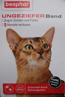 Ungezieferband Katze Flohband gg Flöhe + Zecken - 10 Packungen - von Beaphar