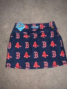 LOUDMOUTH Golf Skirt Shorts Skort Stretchy Sz M Boston Red Sox