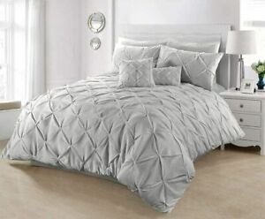 Ease-n-Comfort Duvet Bedding Cover Set Pin tuck Dyed Diamond with pillowcases