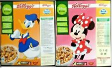 KELLOGGS CEREAL EMPTY BOX DONALD DUCK MINNIE MOUSE DISNEY (picture of two sides)