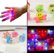 3 pcs/lot Cute Kids LED Lights Up Flashing Finger Rings 13-5