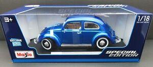 1955 Volkswagen Kafer Beetle ~ Blue ~ 1:18 Metal Die Cast Car ~ Maisto