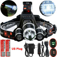 T6 90000LM LED Headlamp Rechargeable Headlight Light Flashlight Head Torch