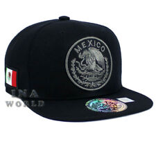 MEXICAN hat Snapback MEXICO Federal Logo Embroidered Baseball cap- Black/Gray
