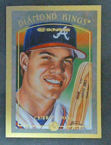 1996 Donruss Diamond Kings Canvas #10 Chipper Jones #'d 29/10000