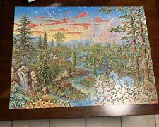 Unicorn Country Vintage 1982 Eaton Puzzle Complete Michael Fishel Art