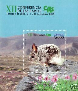 CHILE, CHINCHILLA, SOUVENIR SHEET, MNH, YEAR 2002, BLOCK N° 88.-