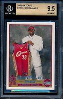 2003-04 Topps LeBron James Rookie RC #221 BGS 9.5 GEM MINT OLD LABEL