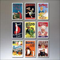 9 Vintage Retro Advert Poster Fridge Magnets Art Deco  No.4