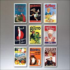 9 Vintage Rétro Affiche Publicitaire Aimants pour Réfrigérateur Art Déco No.4