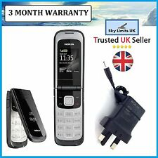 New Condition Nokia 2720 Black unlocked Flip Fold Brand Mobile Phone Easy to Use