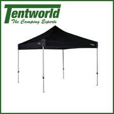 OZtrail Deluxe 3.0 - 3 X 3m Black Gazebo Hydroflow Camping Shelter Model