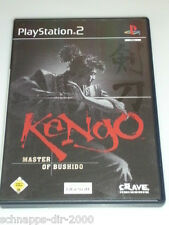 KENGO MASTER OF BUSHIDO KOMPLETT MIT ANLEITUNG PLAYSTATION 2 PS2 KAMPFTECHNIK