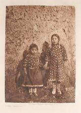 EDWARD S. CURTIS PHOTOGRAVURE SISTERS-APSAROKE.