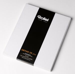 "✅ ROLLEI 8x10"" CUT SHEET FILM ORTHO ISO 25 PLUS BLACK & WHITE SEALED BOX"