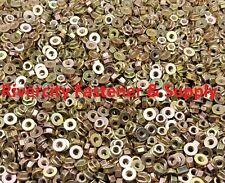 (500)  M8-1.25 / 8mm x 1.25 Thread Steel Flange Nut yellow Zinc Grade 8.8
