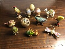 Rucinni, Twos Company And Unknown Trinket Jewelry Eggs And Bird Lot Of 12
