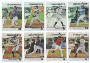2021 Donruss Baseball DOMINATORS VECTOR Prizm Insert Set DeGrom Ruth Arozarena!!