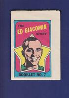 The Ed Giacomin Story Booklet 1971-72 O-PEE-CHEE Hockey #7 (EX)
