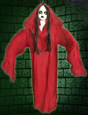 Halloween Hanging Party Decoration Prop Haunted Zombie Lady in red Dress