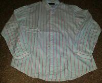 ! NWT MSRP $98 Mens Ralph Lauren Button Front Long Sleeve Cotton Shirt 2XL XXL