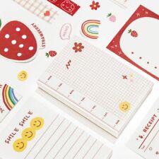 100 Sheets Cute Strawberry Rabbit Bear Stationery Notebook School Decorative Diy