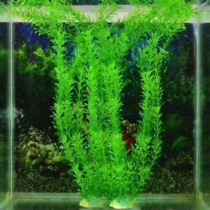 Green Artificial Eco Friendly Plastic Aquarium Fake Water Plants Home Decoration