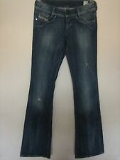 14E ) WOMENS DIESEL INDUSTRY ( LOUVELY) DISTRESSED JEANS ZIP FLY WAIST 28 LEG 32