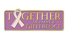 Breast Cancer Lapel Pin Pink Together We Make A Difference Tac New